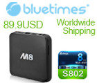 BlueTimes Android TV Box and Power Bank